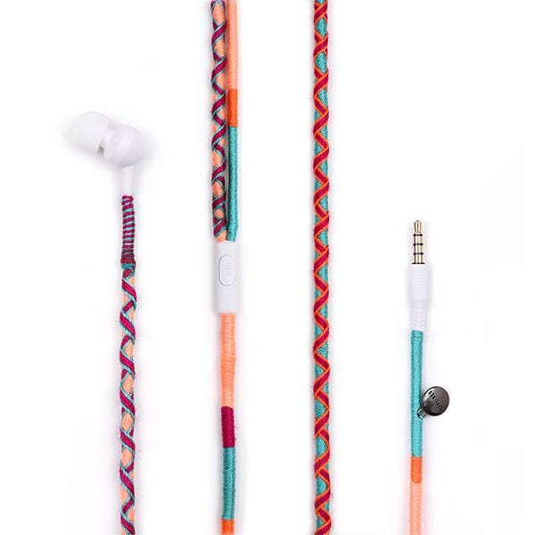 colourful handcrafted jbl earphone