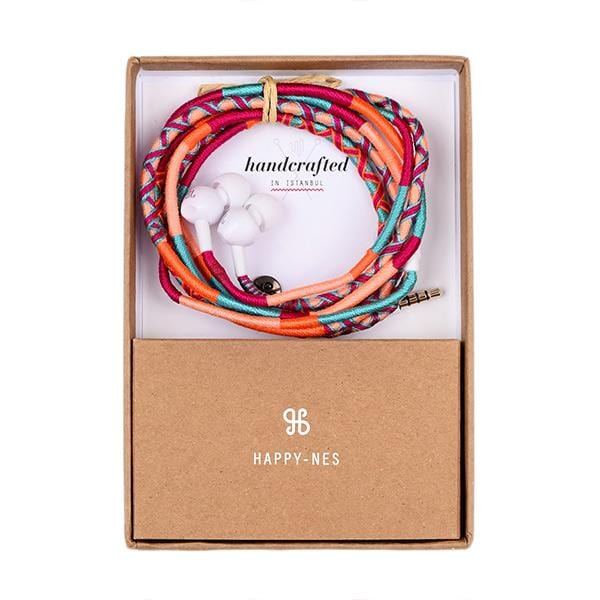 colourful happynes branded jbl earphone in a box