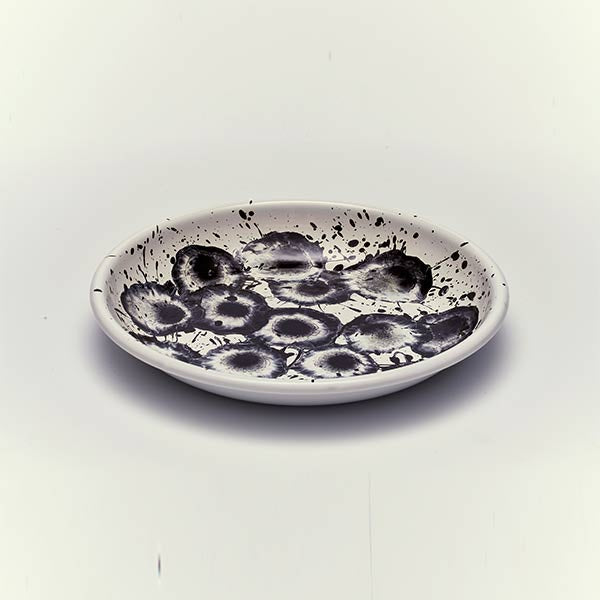 24.5 x 3.7 cm, Black Enamel Big Plate