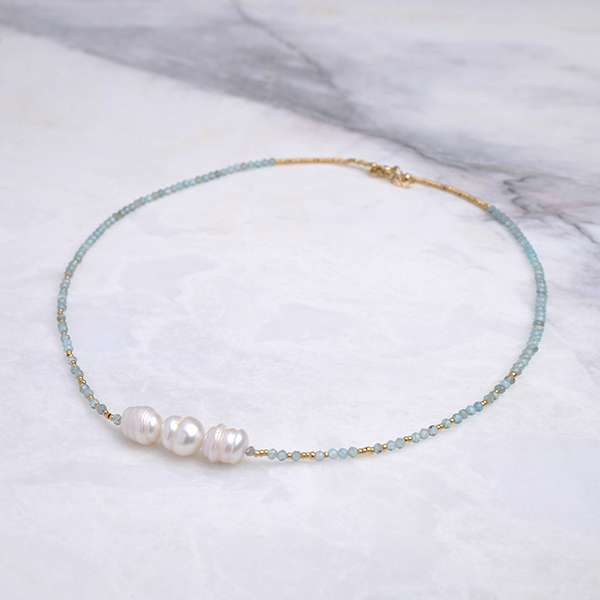 Bonnie Natural Pearl Apatite Necklace