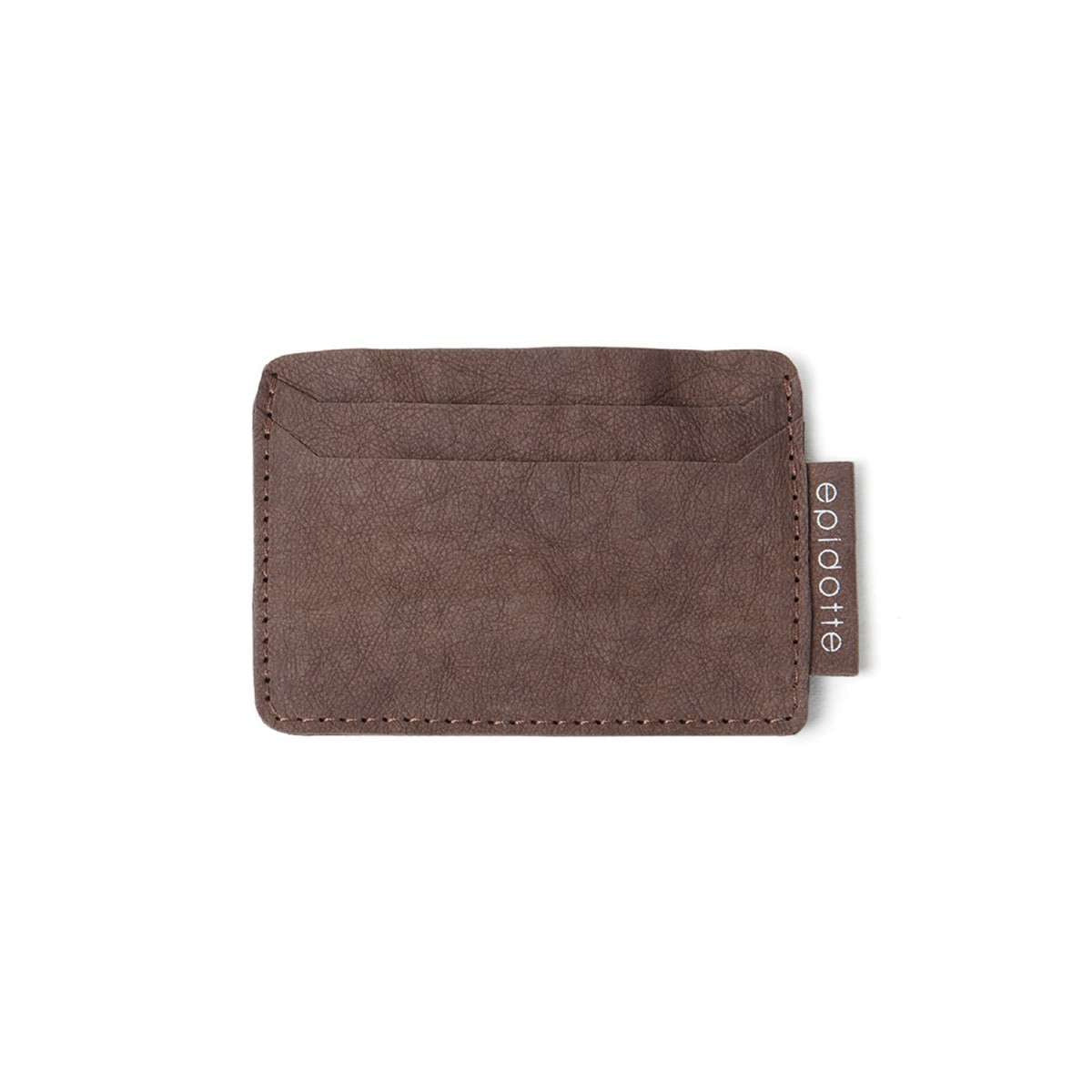 brown colour card holder from eco friendly paper