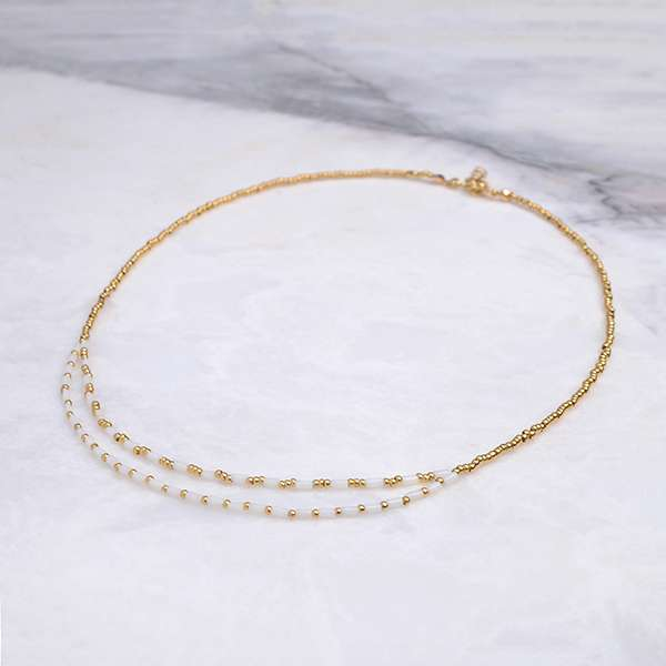 Charlotte White Coral Necklace