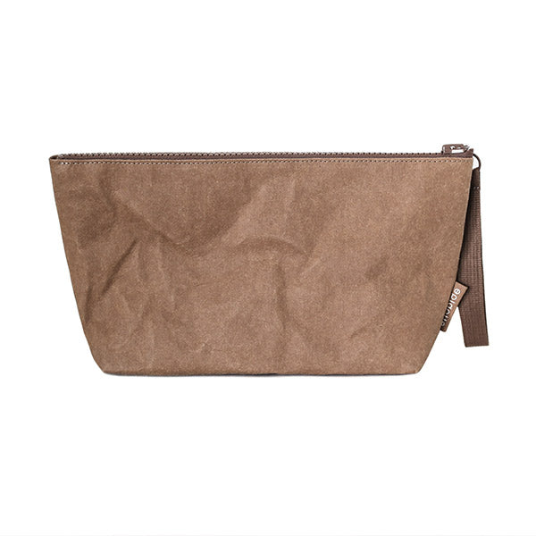 Epidotte Chocolate Colour  Clutch from Eco-friendly paper at hippist.co.uk