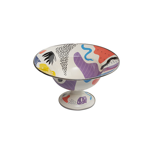 30 cm, Big Colorful Enamel Compote