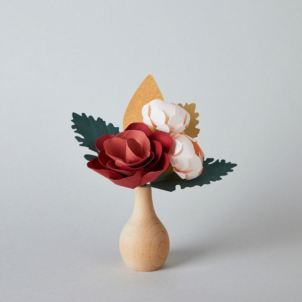 Coral Paper Flower Bouquet