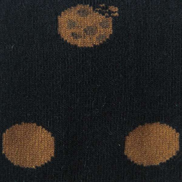 Fundaze branded black bamboo socks with polka dot cookie pattern at hippist.co.uk