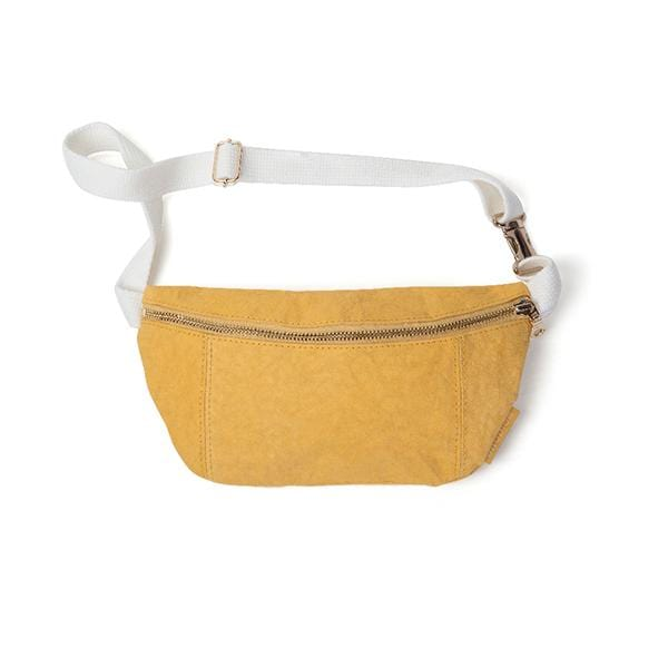 Epidotte Mustard Colour Fanny Pack from Eco-friendly paper at hippist.co.uk