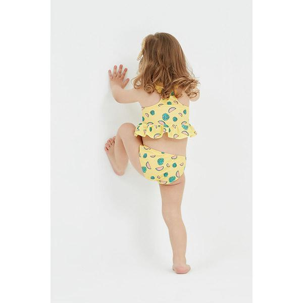 Little girl wears peralina fanny watermelon bikini