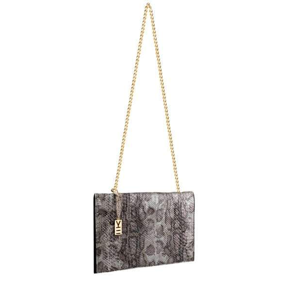 Why Note!? Brown Snake Pattern Formal Note Bag,