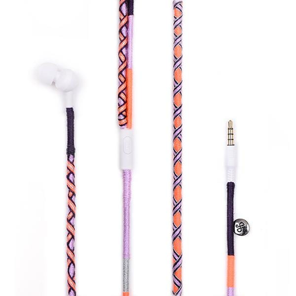 orange black grey lilac colourful jbl earphones