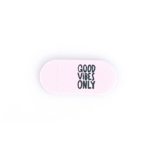 Webcam Cover | Good Vibes Only | Pink