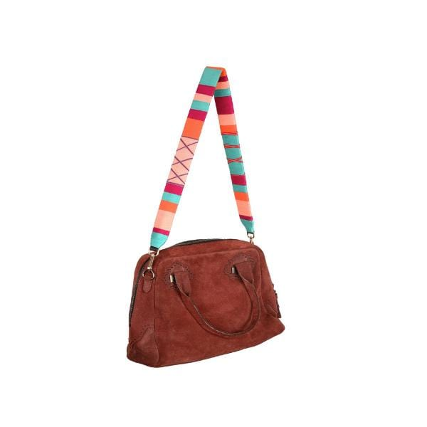 happy-nes branded classic zigzag design boho bag strap fizzy at hippist.co.uk
