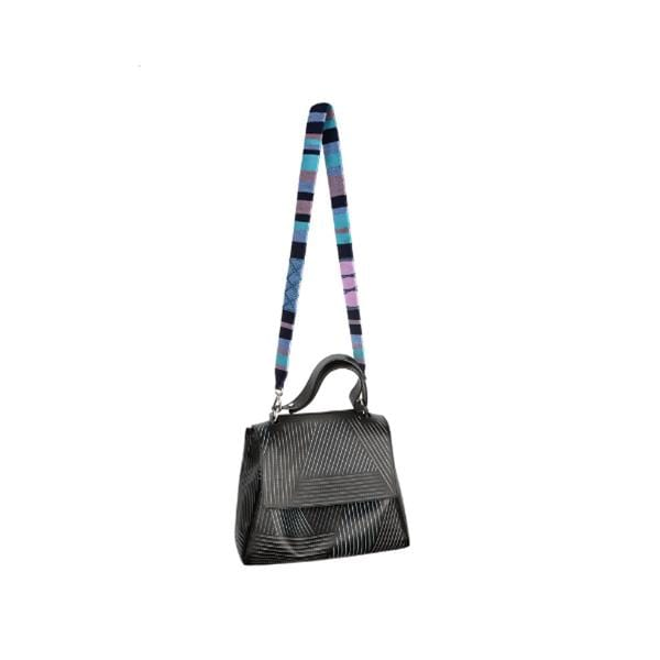 happy-nes branded classic zigzag design boho xl bag strap bloom at hippist.co.uk
