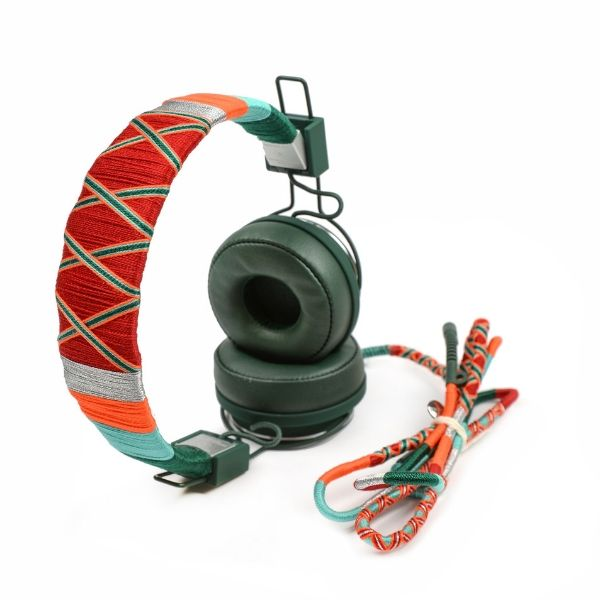Happy-nes branded trendy, colored Urbanears Plattan 2 Headphones, Tropical at hippist