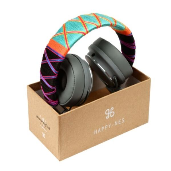 Happy-nes branded trendy, colored Urbanears Plattan BT Headphones, Tropical at hippist
