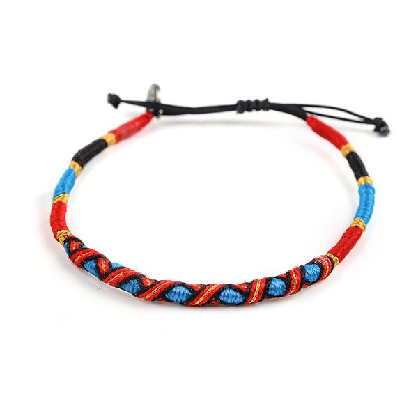 happy-nes branded handcrafted colourful anklet goldy