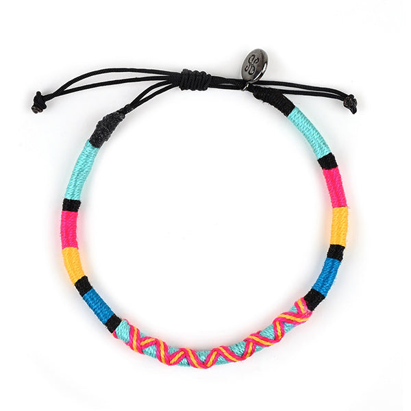 happy-nes branded handcrafted colourful anklet pnut