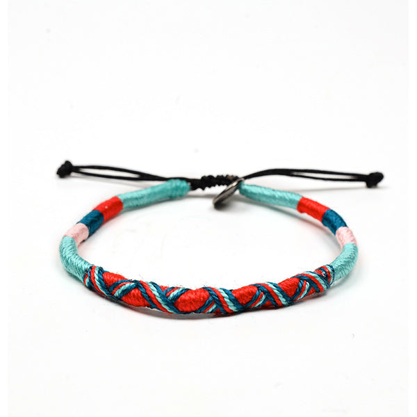happy-nes branded handcrafted colourful anklet razzy
