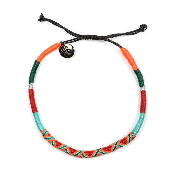 happy-nes branded handcrafted colourful anklet tropical