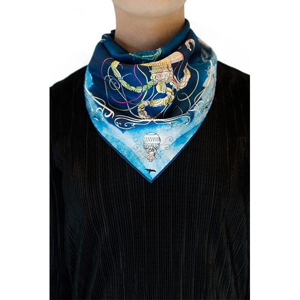 Bird | Silk Bandana Accessories El Deseo