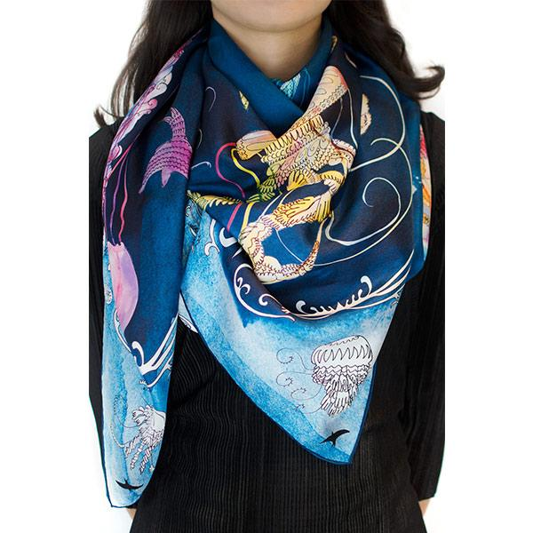 Bird | Silk Scarf Accessories El Deseo