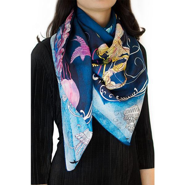 Bird | Silk Scarf - hippist.co.uk