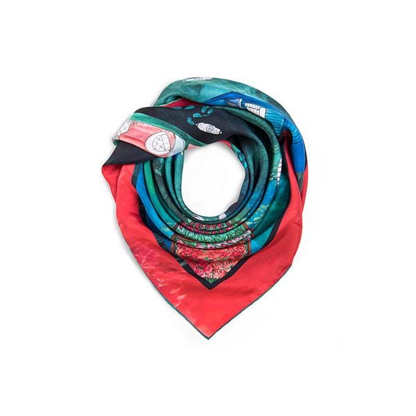 Deep Eyes | Silk Scarf - hippist.co.uk