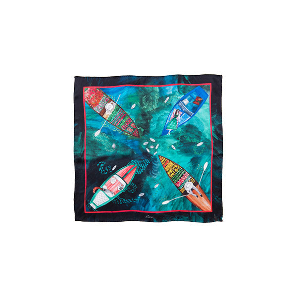 Elsa | Silk Scarf - hippist.co.uk