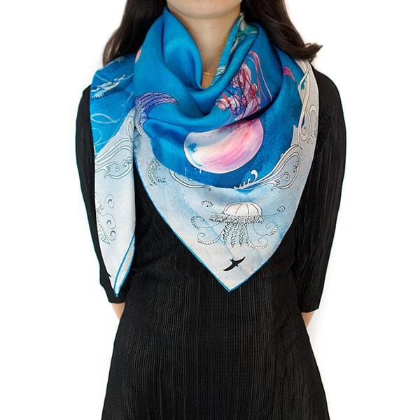 Keep The Flight in Mind | Silk Scarf - hippist.co.uk
