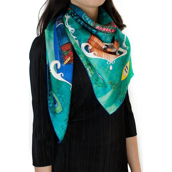 Les Yeux | Silk Scarf - hippist.co.uk