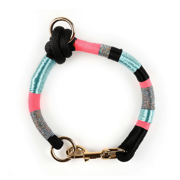 pink grey silvery blue black personalized colorful Dog Collar | Bambina - hippist.co.uk