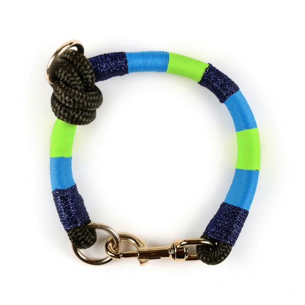 blue green navy handmade Dog Collar | Bubble - hippist.co.uk