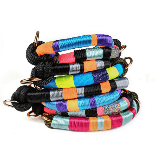 multicolored happynes Dog Collar | Dulcinea - hippist.co.uk