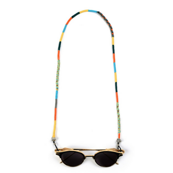 blue yellow black orange plain braided green yellow cross braided handcrafted Colorful Eyeglass Lanyard | Bon Voyage - hippist.co.uk