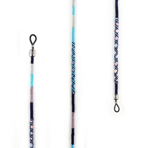 silverly pink blue silverly grey black Colorful Eyeglass Lanyard | Gigi - hippist.co.uk