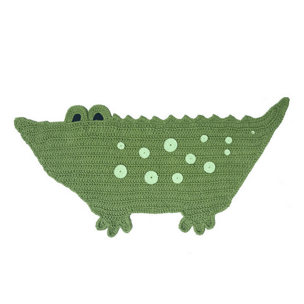 Handwoven Crocodile Mat - hippist.co.uk