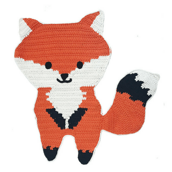 Handwoven Fox Mat - hippist.co.uk