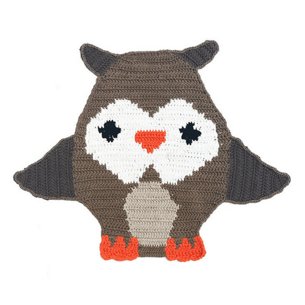 Handwoven Owl Mat - hippist.co.uk