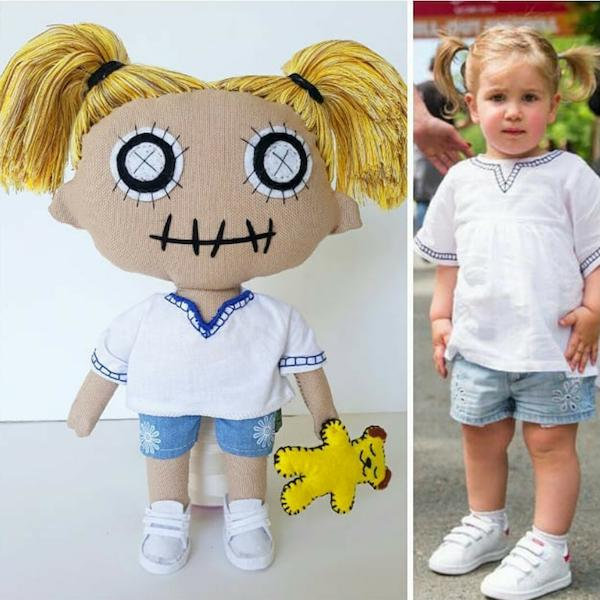 Personalised Mini-Me Handmade Doll