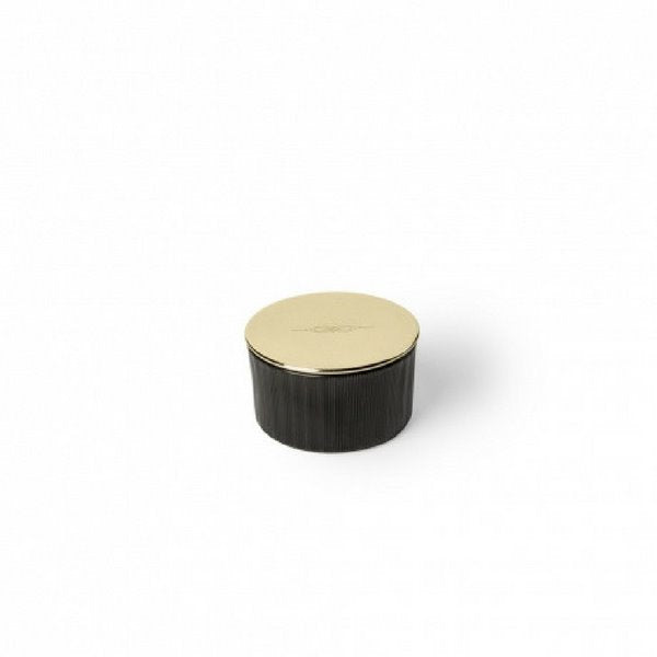 Candle | Petite Black Glass | Brass Lid Decorative Accessories NYKS