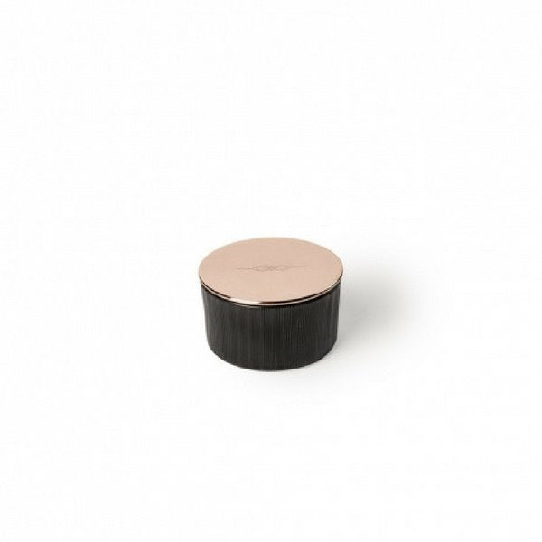 Candle | Petite Black Glass | Copper Lid Decorative Accessories NYKS