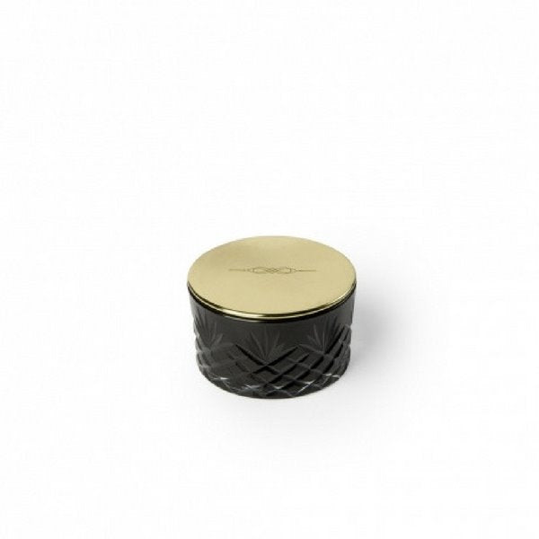 Candle | Petite Black Decorated Glass | Brass Lid Decorative Accessories NYKS
