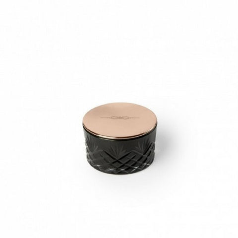 Candle | Petite Black Glass | Copper Lid