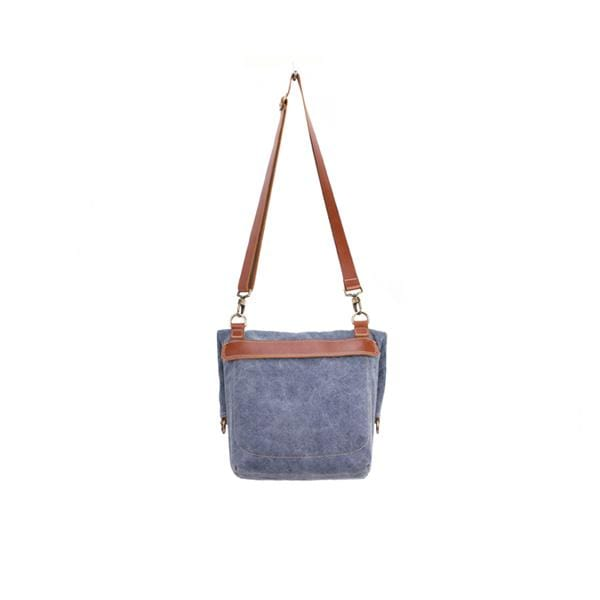 Giraffe Foldover Tote Bag | Blue Washed Canvas - hippist.co.uk