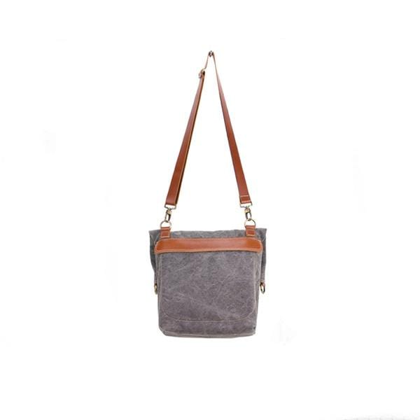 Giraffe Foldover Tote Bag | Grey Washed Canvas - hippist.co.uk