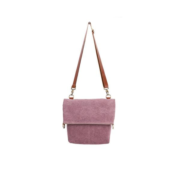 Giraffe Foldover Tote Bag | Pink Washed Canvas - hippist.co.uk