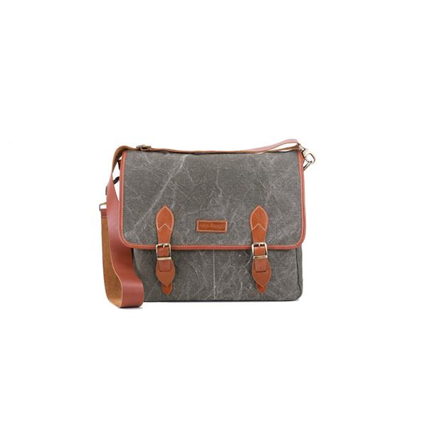 Carambola Messenger | Black Washed Canvas Bags Ottobags