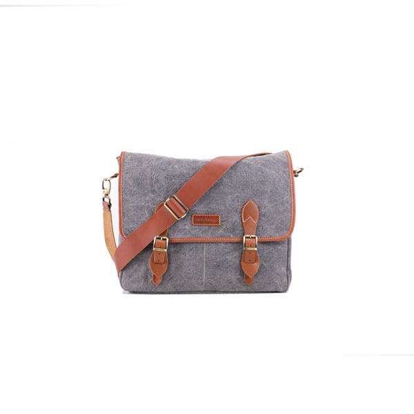 Carambola Messenger | Grey Washed Canvas Bags Ottobags