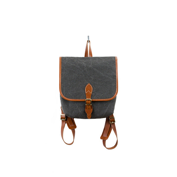Coconut Mini Backpack | Black Washed Canvas - hippist.co.uk