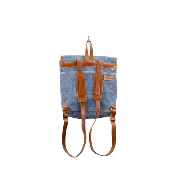 Coconut Mini Backpack | Navy Blue Washed Canvas - hippist.co.uk